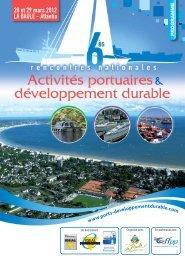 programme - Rencontres Nationales Activités portuaires et ...
