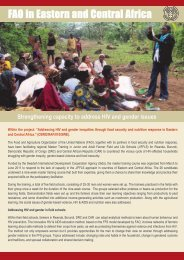 FAO in Eastern and Central Africa - Disaster risk reduction