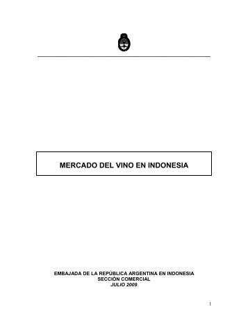 EL MERCADO DE VINOS EN INDONESIA - Wines Of Argentina