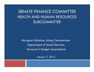 Proposed Budget for the Department of Social Services