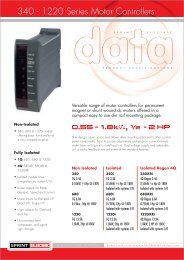 Datasheet 340 - Esco Drives & Automation