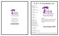 F. R. P. A. Foundation, Inc. - Florida Recreation and Park Association
