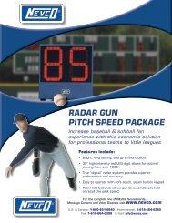RadaR gun Pitch SPeed Package Increase baseball ... - Nevco