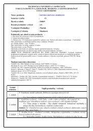 sylaby MRO08_09a - Fakulta BERG