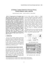 external characteristics for electrical - Scientific Bulletin of Electrical ...