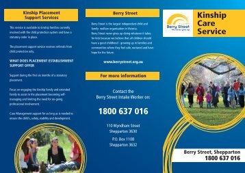 Hume Kinship Care Brochure - Berry Street