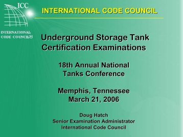 Underground Storage Tank Certification Examinations - NEIWPCC