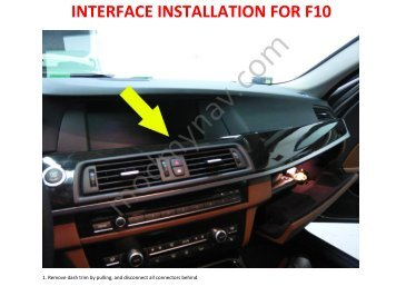 PnP Interface Kit Installation Guide for F10 5series ... - modmynav.com