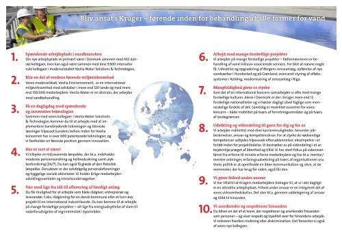 10 gode grunde til at arbejde hos Krüger - Krüger A/S