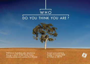 Who Do You Think You Are? Press Kit