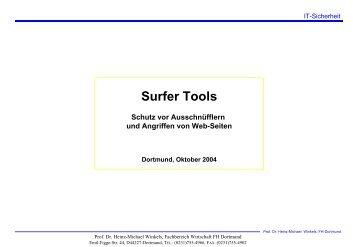 Schutz beim Surfen - Prof. Dr. Heinz-Michael Winkels