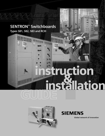 SENTRON™ Switchboards, Types SB1, SB2, SB3 and RCIII ...