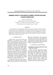 bamboo shoot culm sheath fibers: extraction and ... - DSpace