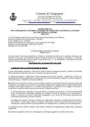 Bando fondo locazione - Comune di Campegine