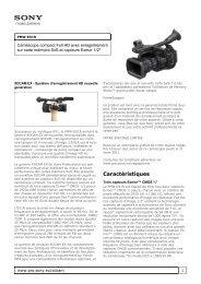 Fiche technique détaillée (215 KB) - SONORA Professional Services