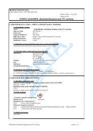 bezpečnostní list - Fakulta životního prostředí