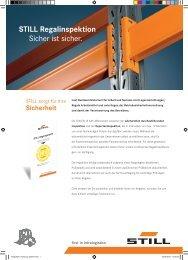 STILL Regalinspektion Sicher ist sicher. - Still GmbH