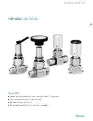 Válvulas de Fuelle: Serie BN (MS-01-94;rev_10;es-ES) - Swagelok