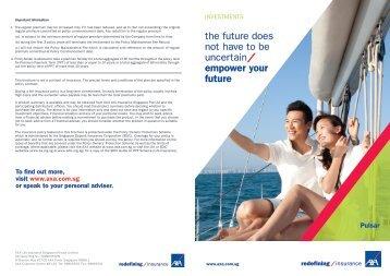Pulsar Brochure - AXA Life Insurance Singapore