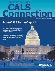 From CALS to the Capitol - College of Agricultural and Life Sciences
