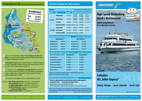 adler schiffe nordstrand