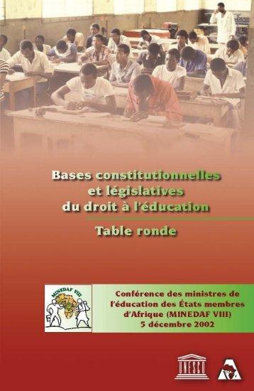 Bases constitutionnelles et législatives du droit à l'éducation ... - ADEA