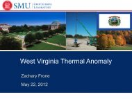 The West Virginia Thermal Anomaly - West Virginia Department of ...