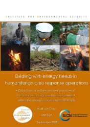 Dealing with energy needs in humanitarian crisis response operations