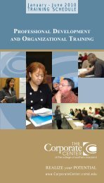 professional development and organizational training