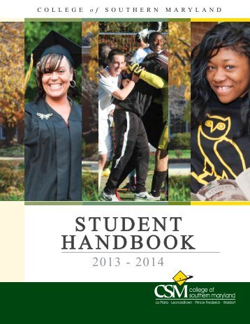 Download the Student Handbook - College of Southern Maryland
