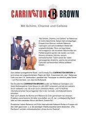Pressetext Mit Schirm, Charme und Cellone - HOANZL Agentur
