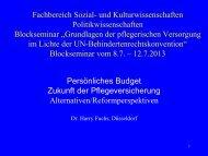 6. Persönliches Budget - Harry Fuchs, Düsseldorf