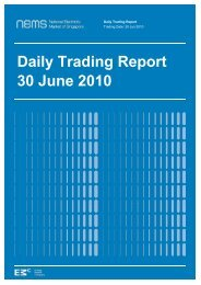 Daily Trading Report 30 June 2010 - EMC - Energy Market Company