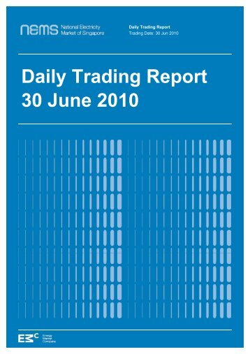 Daily Trading Report 30 June 2010 - EMC - Energy Market Company