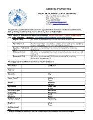 AWC Membership application form - American Women's Club of the ...