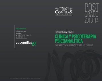 clínica y psicoterapia psicoanalítica - Universidad Pontificia Comillas