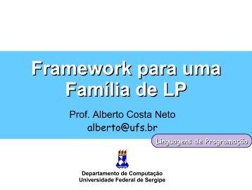 Framework para uma Família de LP - UFS