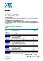 CERTIFICATE II IN BUSINESS BSB20101 - TLS - Victoria University