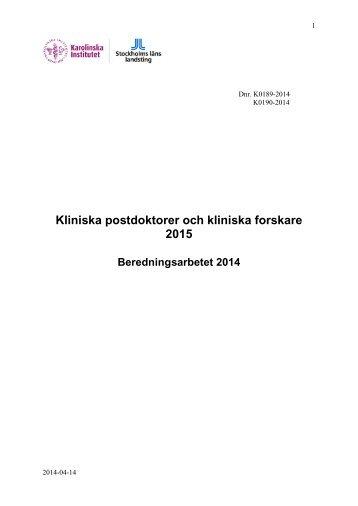 Beredning - Anslag till forskning, utveckling och utbildning