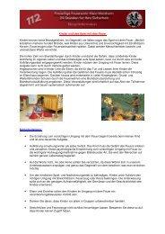 Brandstiftung - Kinder und das Spiel mit dem Feuer - Feuerwehr ...
