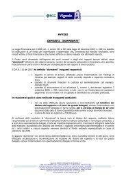 Avviso DR45 Novembre 2010 - BCC Vignole e Montagna Pistoiese