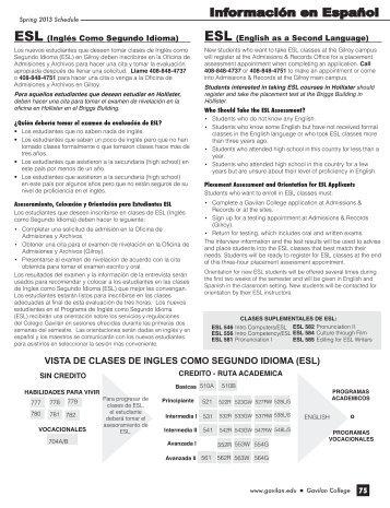 Información en Español - Gavilan College