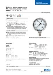 Bourdon tube pressure gauge Stainless steel, safety version Models ...