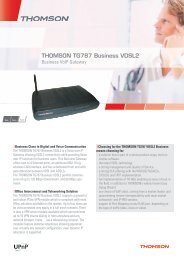 THOMSON TG787 Business VDSL2 - Marcom Telecoms Home page