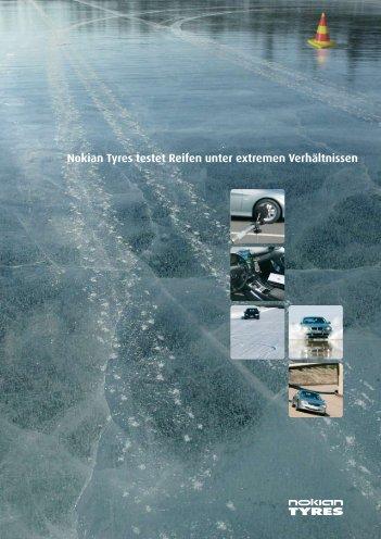 Nokian Tyres testet Reifen unter extremen Verhältnissen - brochure