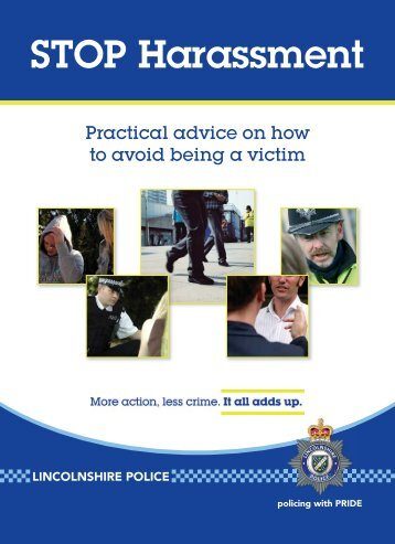Stalking and Harassment Booklet.pdf - Lincolnshire Police