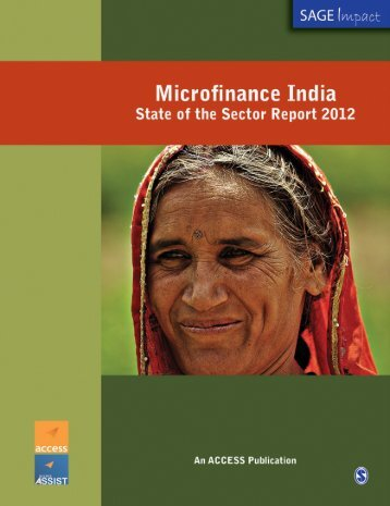 State of the Sector Report 2012 - Microfinance India Summit