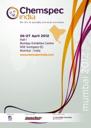 Dear Exhibitor, We are delighted you are     - Chemspec Events