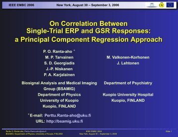 Slides in PDF format - Biosignal Analysis and Medical Imaging Group