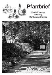 Pfarrbrief - St. Rupert